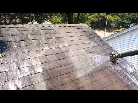 Asphalt Shingle Roof Wash