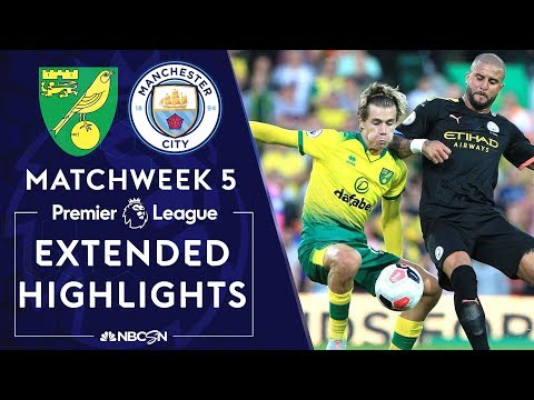 Norwich City v. Manchester City | PREMIER LEAGUE HIGHLIGHTS | 9/14/19 | NBC Sports