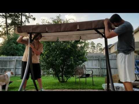 Mainstays Lawson Ridge Converting Outdoor Swing/Hammock Patio Swing Assembly
