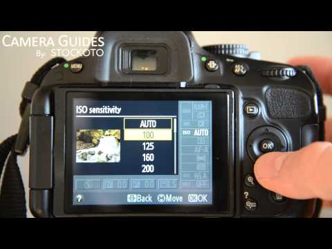 How to set ISO settings on a Nikon D5100 , D5200, D5300