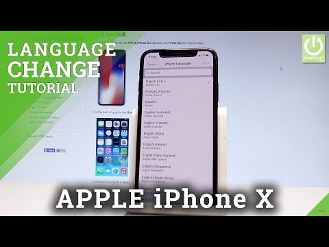 APPLE iPhone X CHANGE LANGUAGE / Language Settings in iOS