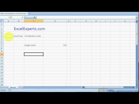 ExcelExperts.com - Excel Tips - Find Broken Links