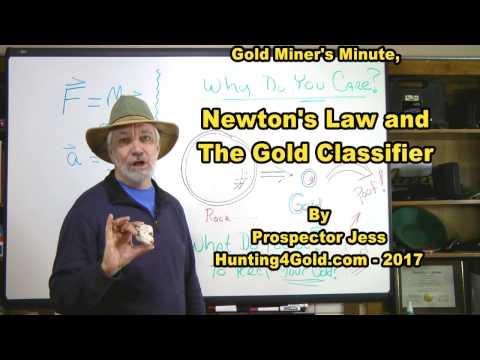 Gold classifier sieve meets Newton's law