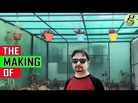 SHADE HOUSE DESIGN AND CONSTRUCTION   How to Make GreenHouse (Polyhouse) for Plants
