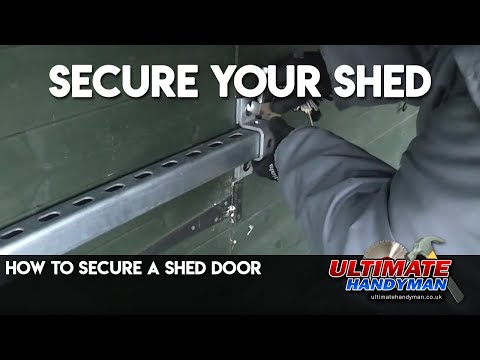 How to secure a shed door
