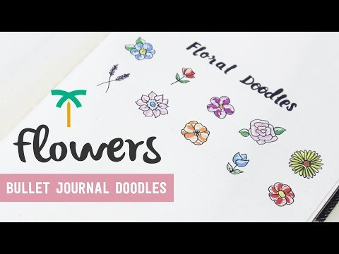 Bullet Journal Doodle Ideas - Doodle with Me 10 Easy Flowers | Stationery Island