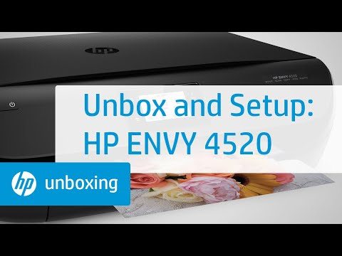 Unboxing, Setting Up, and Installing the HP ENVY 4520 Printer