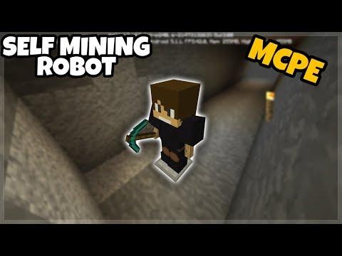 Minecraft PE: Self Mining Robot (Command Block Creations)