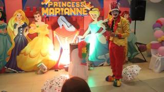 Kiddie magic show sample by pink heaven (clown) birthday party styro backdrop