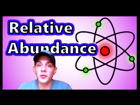 Finding Relative Abundance of Two Isotopes