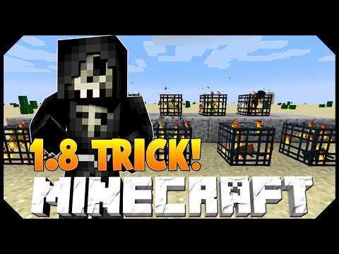 Minecraft: 1.8 Tip! HOW TO CHANGE A MOB SPAWNER TO SPAWN ANY MOB (Spawn Eggs)