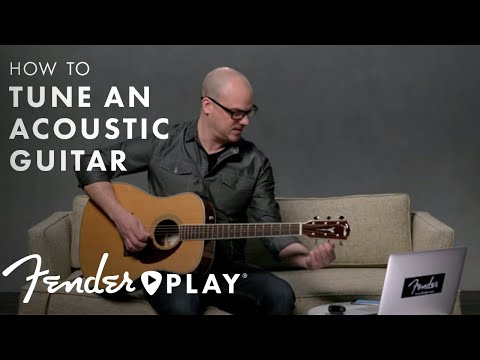 How to Tune a Guitar | Acoustic Guitar Tuning for Beginners | Fender