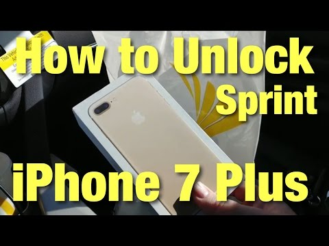 How to Unlock Sprint iPhone 7 Plus