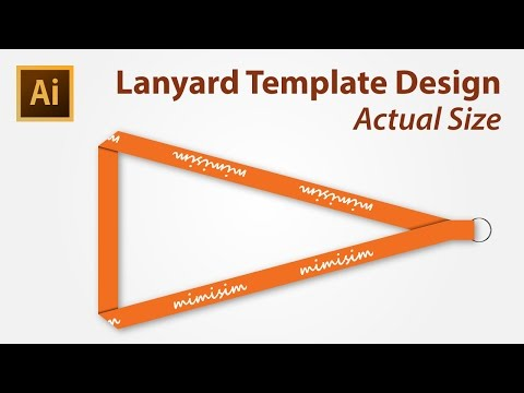 Lanyard Template Design using Adobe Illustrator