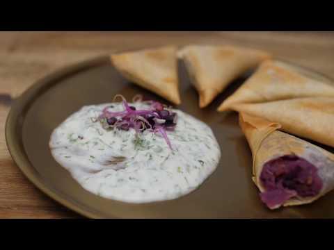 PURPLE Winter Recipe: Samosas filled with Purple Sweetpotatoe and Peanuts