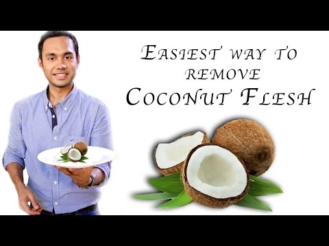 Easiest way to remove coconut flesh from the shell | Quick & Easy Recipes | Chef Saransh