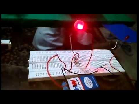 Laser security alarm (Burglar alarm)