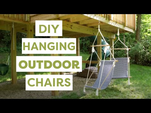 DIY Hanging Outdoor Chairs- HGTV Handmade