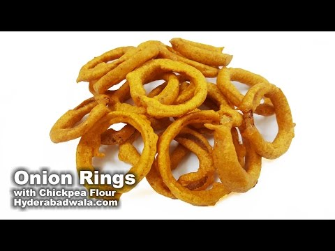 Onion Rings with Chickpea Flour Recipe Video – How to Make Besan Onion Rings at Home – Easy & Simple