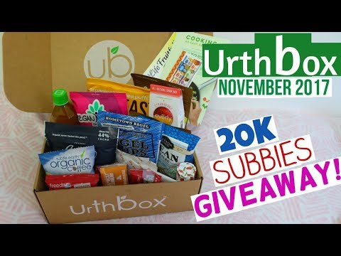 Urthbox November 2017 Unboxing & 20K GIVEAWAY! (CLOSED)