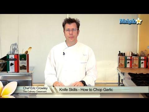 Knife Skills - How to Chop Garlic