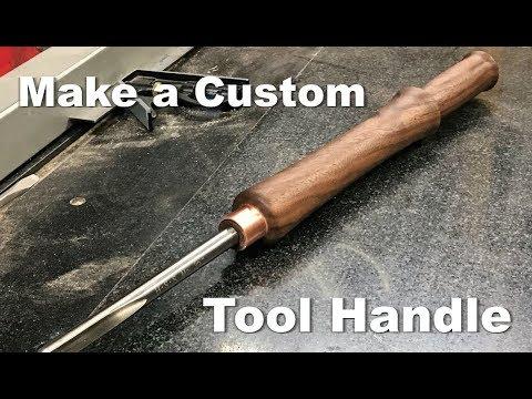 Custom lathe tool handle - modified Benjamins Best bowl gouge