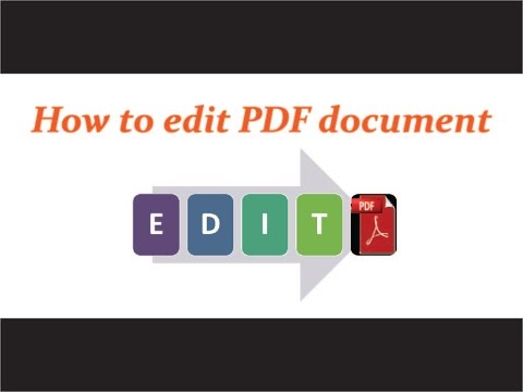 How to edit PDF document - NO paid software NO watermarks