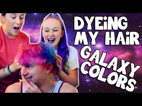 GALAXY HAIR DIY