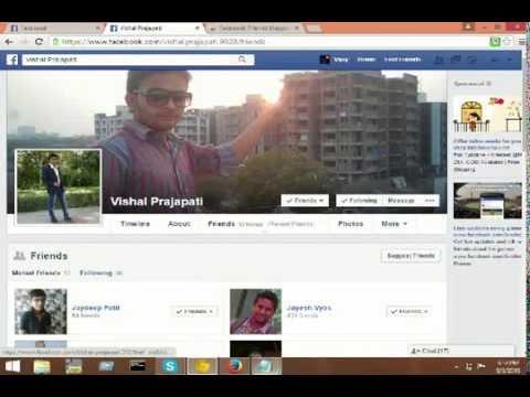 magic trick to show your facebook friends hidden friend list.