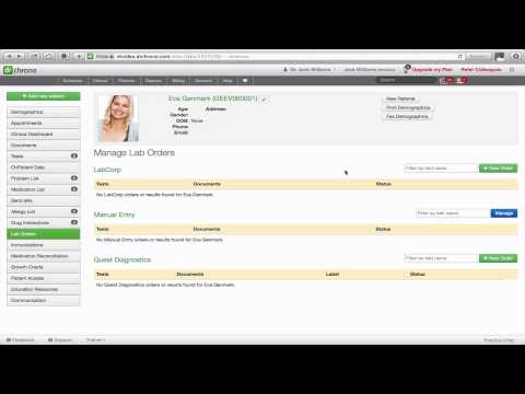 Tutorial: Manual Entry of Lab Orders and Results // drchrono EHR
