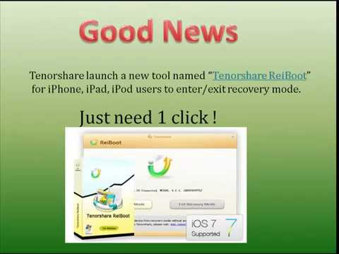 Exit iPhone Recovery Mode with One Click after iOS 8 Upgrade (Unbrick iPhone, iPad, iPod))