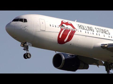 Rolling Stones Boeing 767 [ZS-NEX] landing at Pisa (Sept 21 2017)