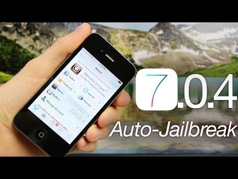 NEW Jailbreak 7.0.4 Tethered iOS iPhone 4,RageBreak 1.4.1 & Auto Install,Cydia