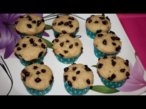 Eggless Vanilla Chocochips Cupcakes/Vanilla Choco chips Cupcake/Cupcake without oven