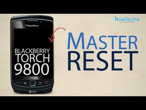 BlackBerry Torch 9800 - How to master reset