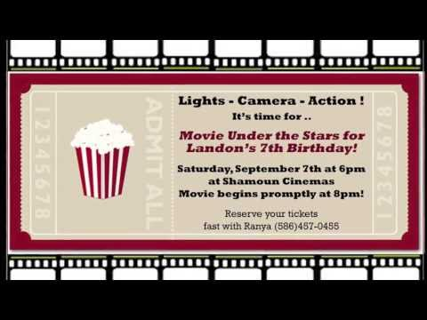 Landon's 7th Birthday Movie Night Adventures
