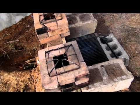 Outdoor Dual Rocket stove cookout grill