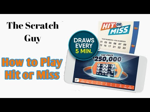 How to play the New Hit or Miss OLG Lottery Ticket
