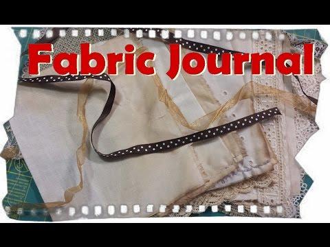 How to make a Fabric Journal, simple design DIY Cloth Book . Ayala Art