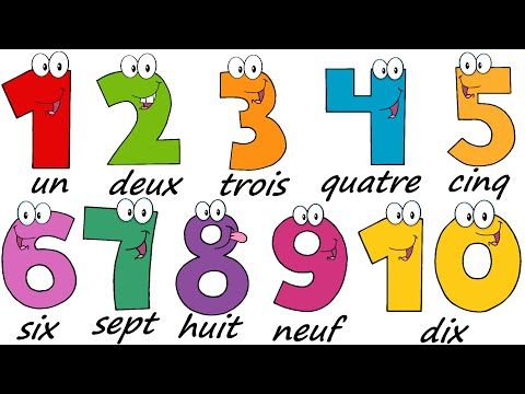 French Lesson 17 - NUMBERS 1-10 - Learn French - The French Minute