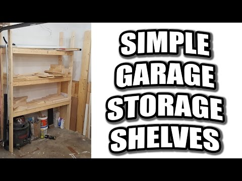 How to Build Simple Garage Storage Shelves / Scrap Wood Storage