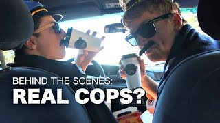 FUNNY SKETCH COMEDY Police Fails: Real Cops? - Behind the Scenes