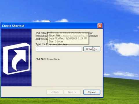 How to create hibernate shortcut in windows xp