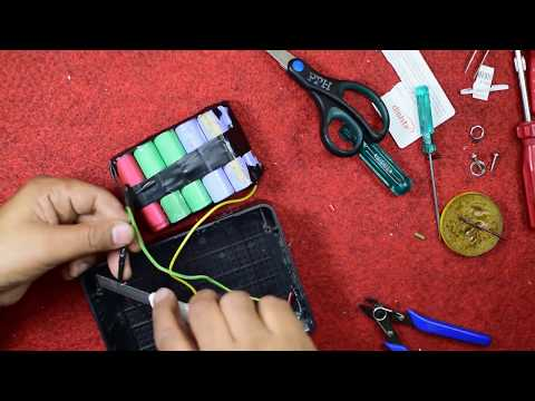 Make Power Bank for Laptop   Laptop charger DIY   Portable charger for laptop