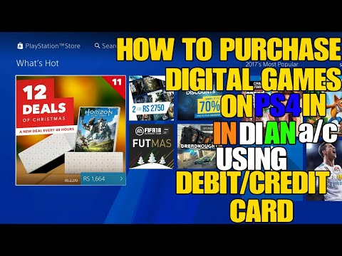 {Hindi} HOW TO PURCHASE DIGITAL GAMES ON PS4 USING DEBIT/CREDIT CARD