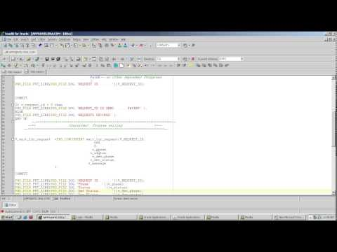 Submitting Concurrent Program through plsql package fnd_request in oracle apps( No Audio)