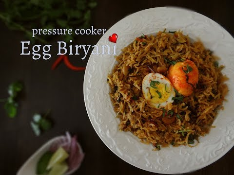 Pressure Cooker Egg Biryani | Easy and Quick Biryani Recipe