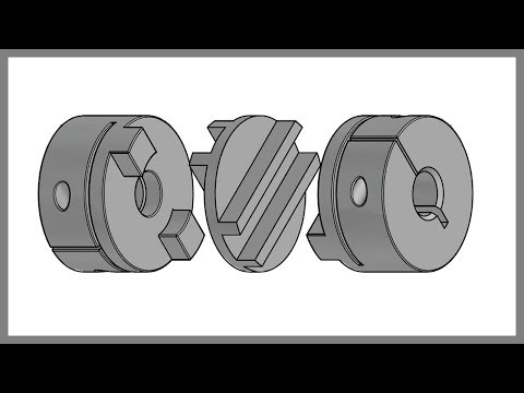 Making Oldham's Coupling in AutoCAD 3D