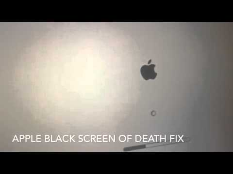 FIXED Apple black screen of death, cursor top left log in after boot