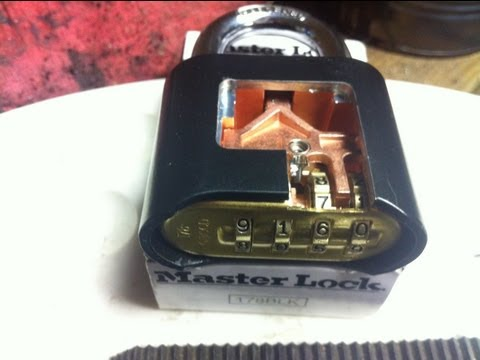 How to open a Master lock 175 combination padlock in 3 seconds.